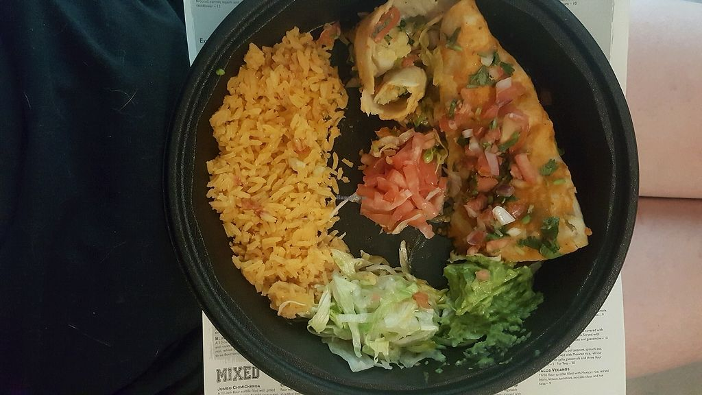 "Photo of Blue Agave  by <a href=""/members/profile/Hello_AlliE"">Hello_AlliE</a> <br/>enchiladas de papa y espinaga (1/2 eaten) <br/> July 3, 2017  - <a href='/contact/abuse/image/82179/276459'>Report</a>"