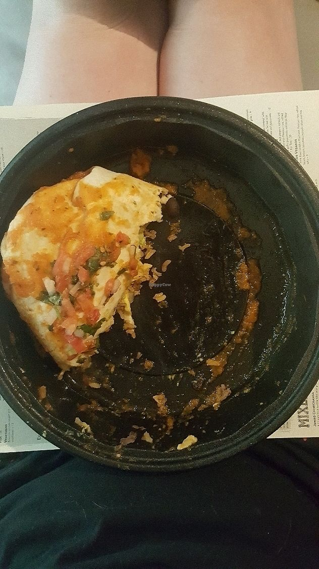 "Photo of Blue Agave  by <a href=""/members/profile/Hello_AlliE"">Hello_AlliE</a> <br/>burrito vegano (1/2 eaten) <br/> July 3, 2017  - <a href='/contact/abuse/image/82179/276462'>Report</a>"