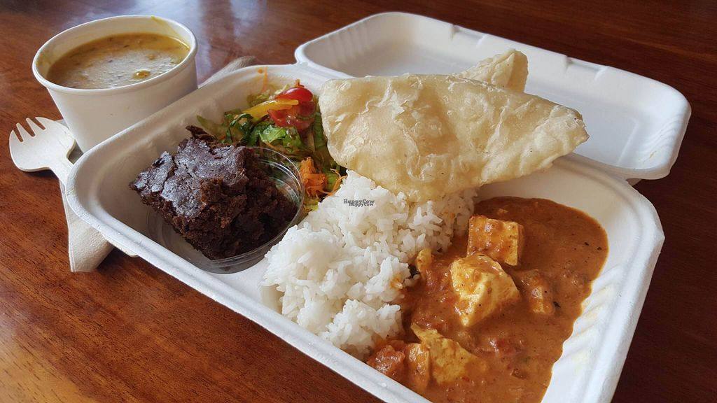 """Photo of Krishnas Kitchen  by <a href=""""/members/profile/KarunamayiDeviDasi"""">KarunamayiDeviDasi</a> <br/>Takeaway lunch meal deals <br/> November 1, 2016  - <a href='/contact/abuse/image/82190/185742'>Report</a>"""
