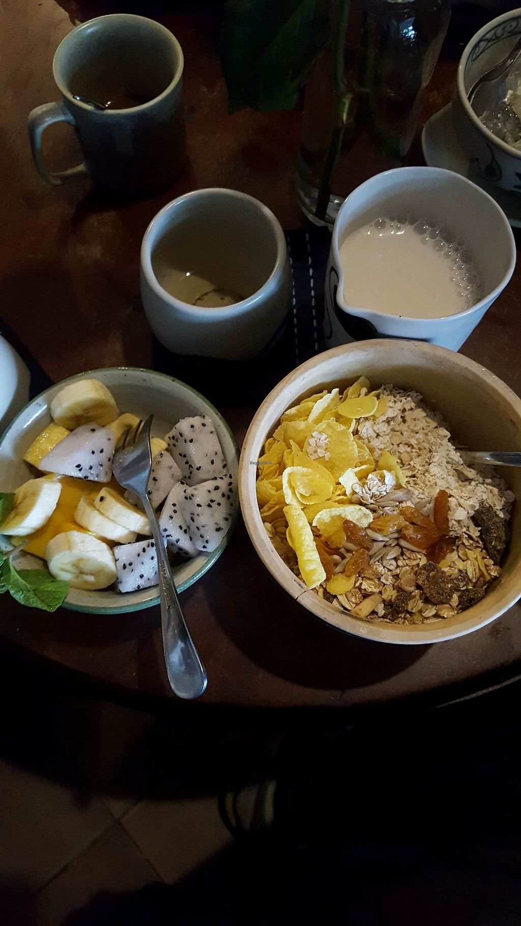 """Photo of Tree Hugger Cafe  by <a href=""""/members/profile/nina.tica"""">nina.tica</a> <br/>tree hugger müsli with fresh food and soy milk ♡ <br/> December 13, 2017  - <a href='/contact/abuse/image/82194/335104'>Report</a>"""