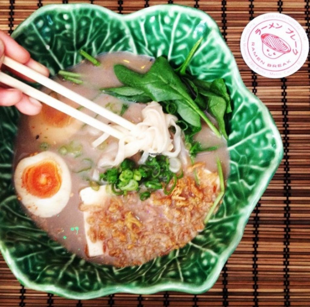 """Photo of Ramen Break  by <a href=""""/members/profile/JoannaJago"""">JoannaJago</a> <br/>Vegetarian Ramen: Ramikado with coconut milk and rice noodles, for vegan ramen exchange egg for shitake mushrooms  <br/> October 31, 2016  - <a href='/contact/abuse/image/82202/185640'>Report</a>"""