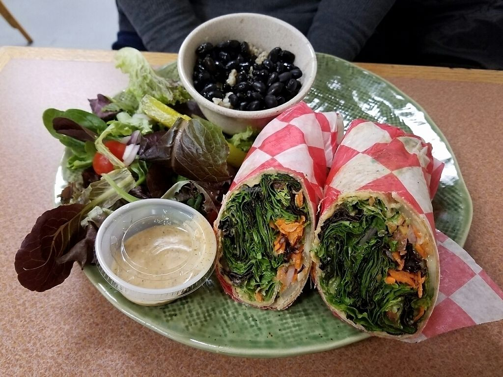"Photo of Plant Power Cafe & Juice Bar  by <a href=""/members/profile/Joeyleerobins"">Joeyleerobins</a> <br/>Hummus Wrap <br/> December 8, 2016  - <a href='/contact/abuse/image/82221/198343'>Report</a>"
