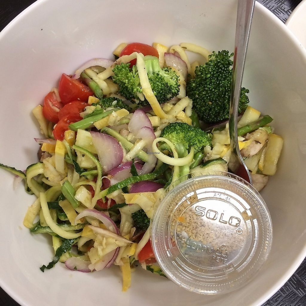 "Photo of Plant Power Cafe & Juice Bar  by <a href=""/members/profile/KatieBush"">KatieBush</a> <br/>spiralized zucchini with lemon pepper sauce <br/> June 19, 2017  - <a href='/contact/abuse/image/82221/270718'>Report</a>"