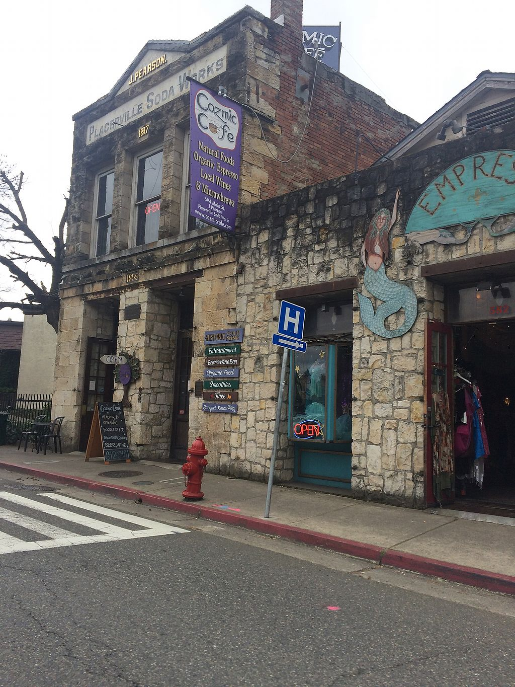 """Photo of The Cozmic Cafe and Pub  by <a href=""""/members/profile/alyjo"""">alyjo</a> <br/>Cozmik Café in Historical Building <br/> March 10, 2018  - <a href='/contact/abuse/image/8222/369005'>Report</a>"""