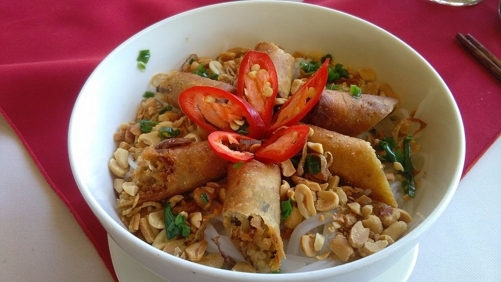 """Photo of P&B Restaurant  by <a href=""""/members/profile/KPike"""">KPike</a> <br/>Fresh noodles with fried spring rolls <br/> November 2, 2016  - <a href='/contact/abuse/image/82237/186074'>Report</a>"""