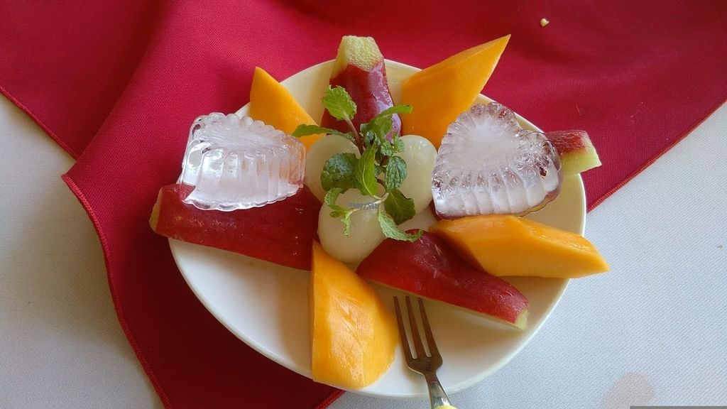 """Photo of P&B Restaurant  by <a href=""""/members/profile/KPike"""">KPike</a> <br/>Fruit plate (the hearts are made of ice) <br/> November 2, 2016  - <a href='/contact/abuse/image/82237/186075'>Report</a>"""