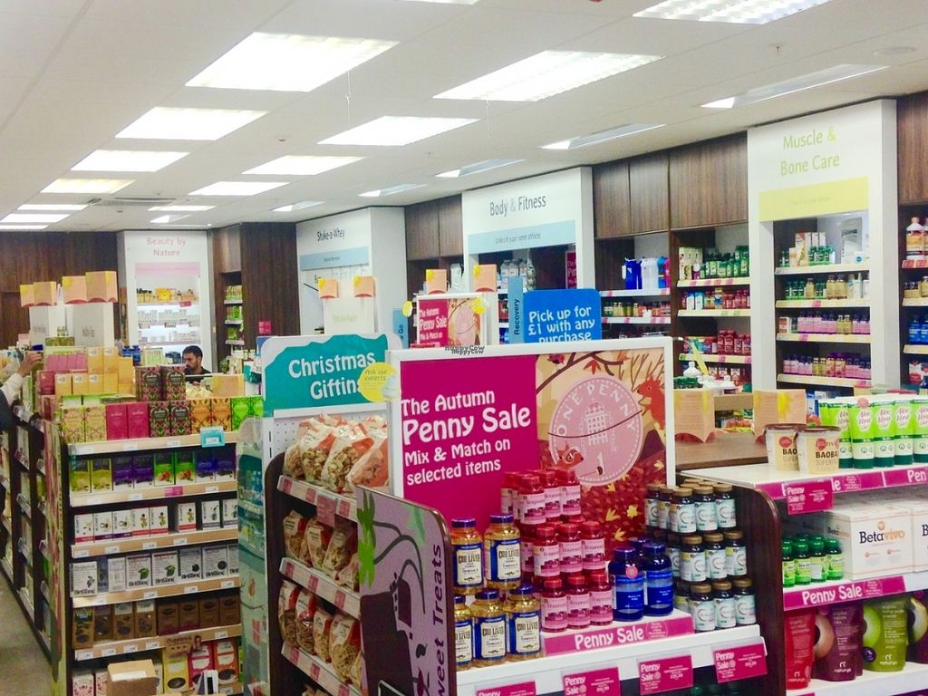 """Photo of Holland and Barrett - Quadrant Shopping Centre  by <a href=""""/members/profile/charclothier"""">charclothier</a> <br/>Indoor store view  <br/> November 1, 2016  - <a href='/contact/abuse/image/82251/185918'>Report</a>"""