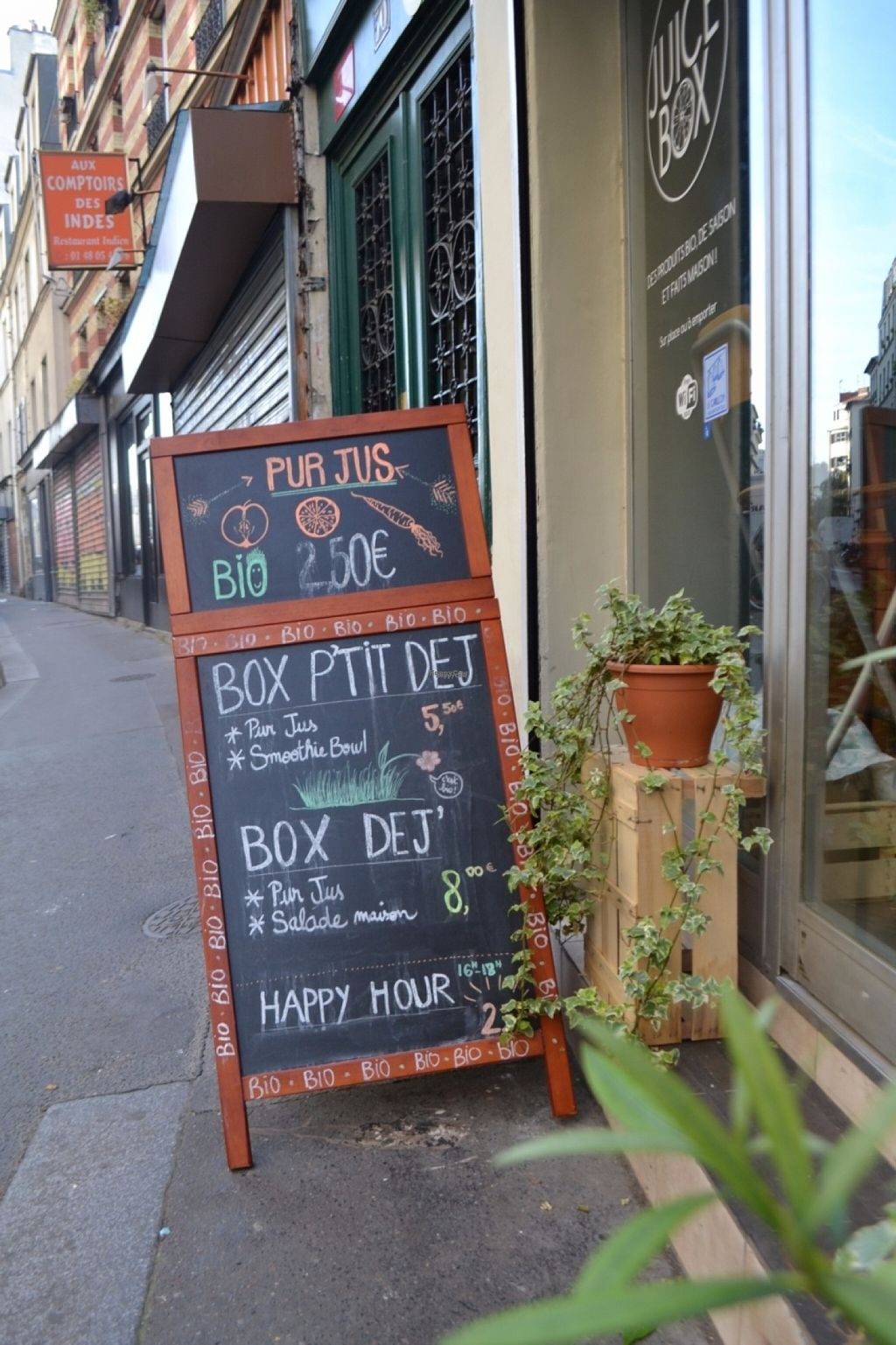 Populaires Juice Box - Paris - HappyCow KW14
