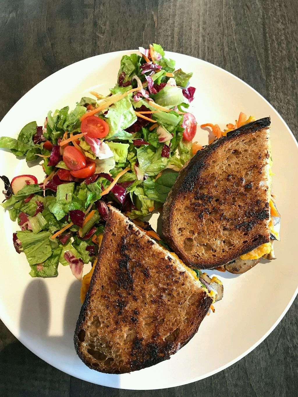 """Photo of Field & Fire Cafe  by <a href=""""/members/profile/AthenaTrombly"""">AthenaTrombly</a> <br/>The Sasquash: Butternut squash hummus, roasted veggies and fresh greens on 4 grain sourdough  <br/> February 25, 2018  - <a href='/contact/abuse/image/82257/363758'>Report</a>"""