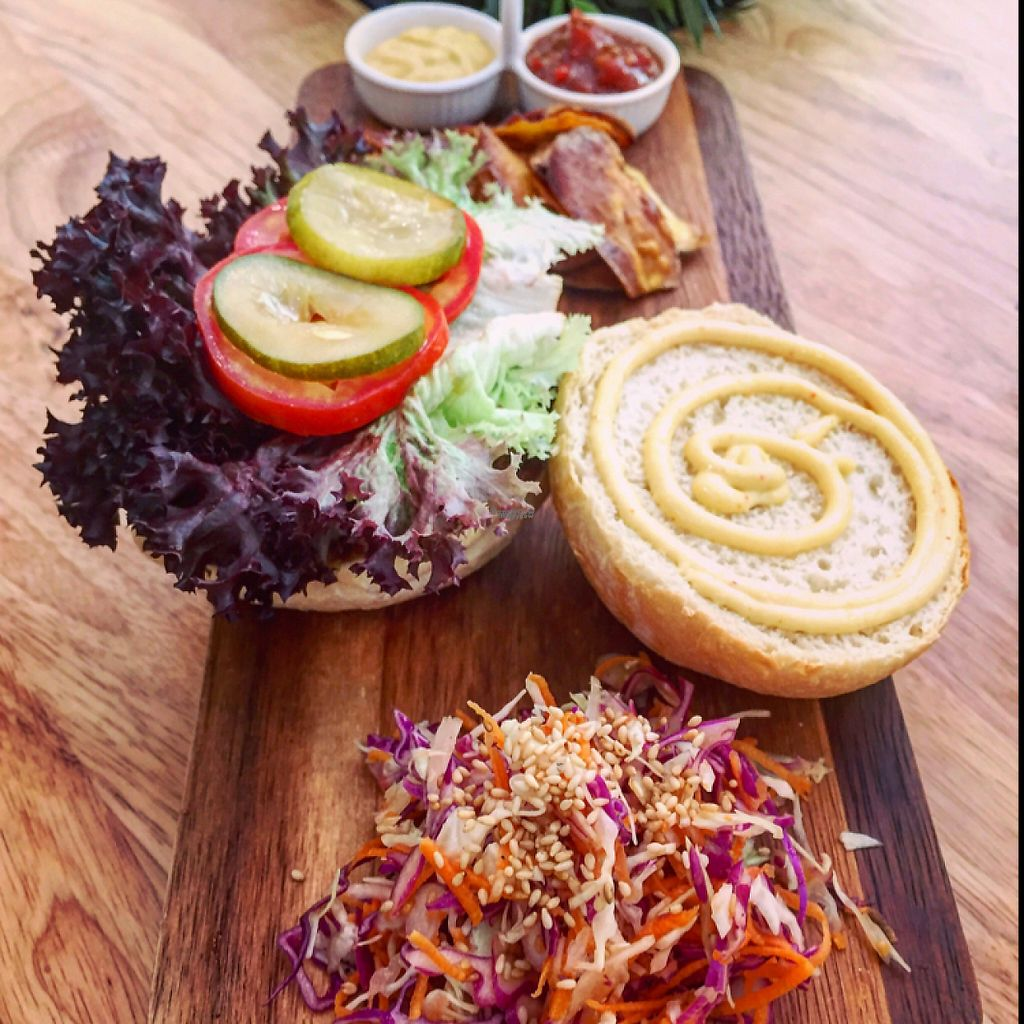 """Photo of Nourish Cafe  by <a href=""""/members/profile/HaileyPoLa"""">HaileyPoLa</a> <br/>Amazing burger  <br/> March 5, 2017  - <a href='/contact/abuse/image/82280/232974'>Report</a>"""
