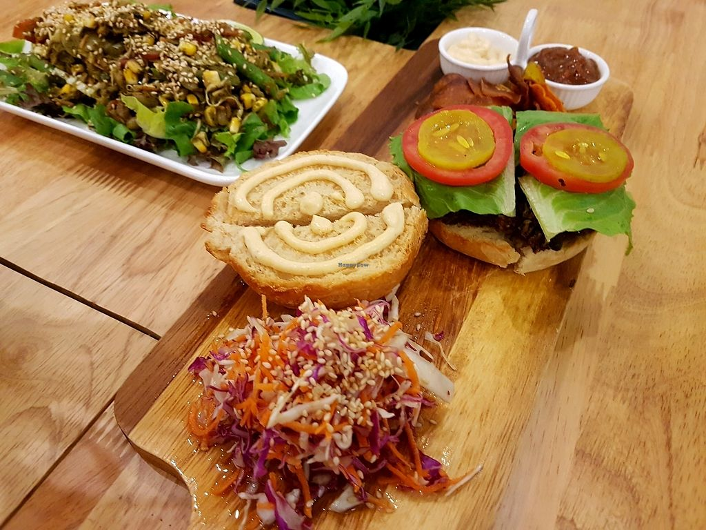 """Photo of Nourish Cafe  by <a href=""""/members/profile/PeterRichards"""">PeterRichards</a> <br/>super veggie burger <br/> October 8, 2017  - <a href='/contact/abuse/image/82280/313182'>Report</a>"""