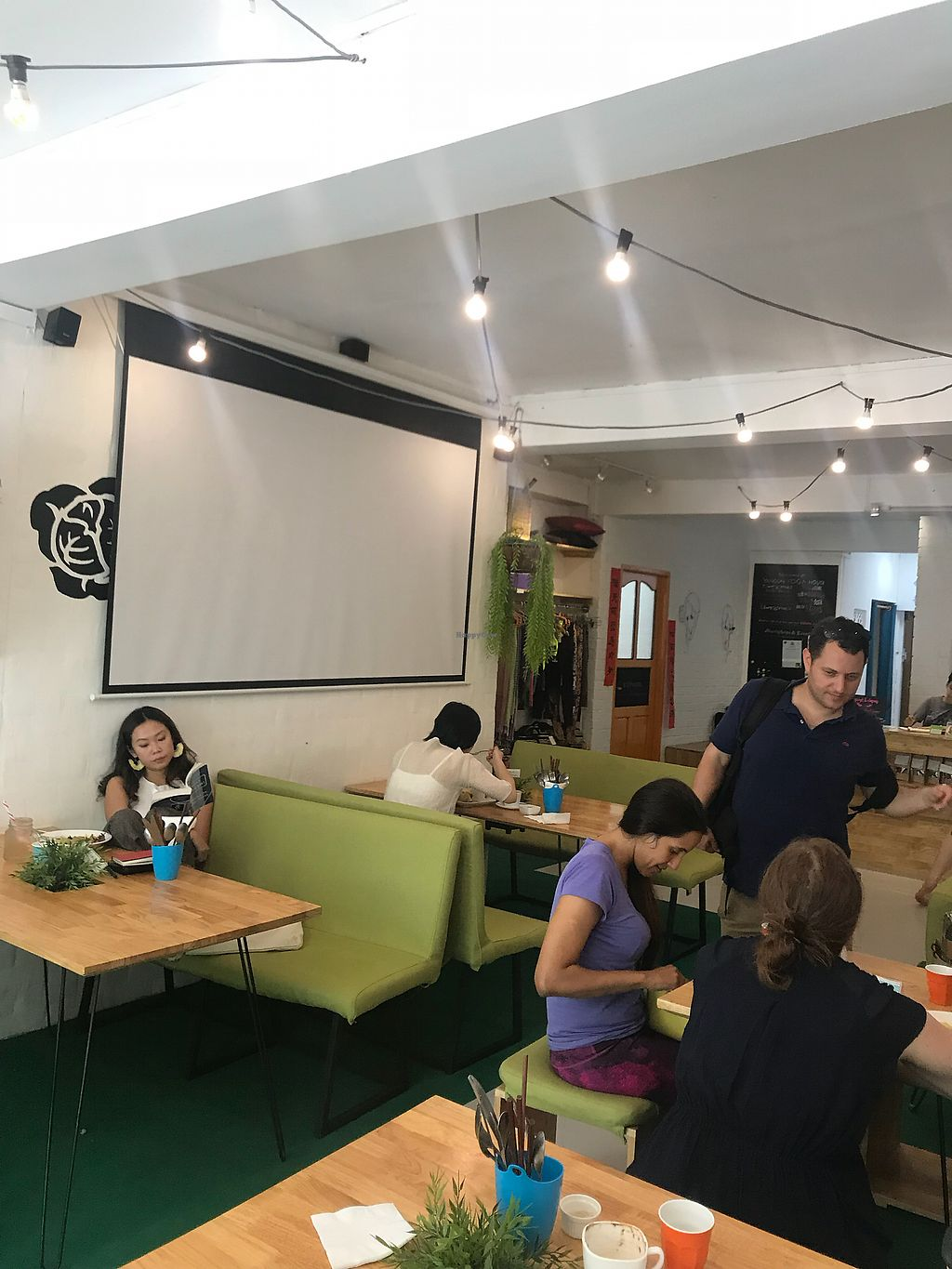 """Photo of Nourish Cafe  by <a href=""""/members/profile/alexita119"""">alexita119</a> <br/>Lounging after/before yoga class next door, beautiful and clean! <br/> March 4, 2018  - <a href='/contact/abuse/image/82280/366496'>Report</a>"""