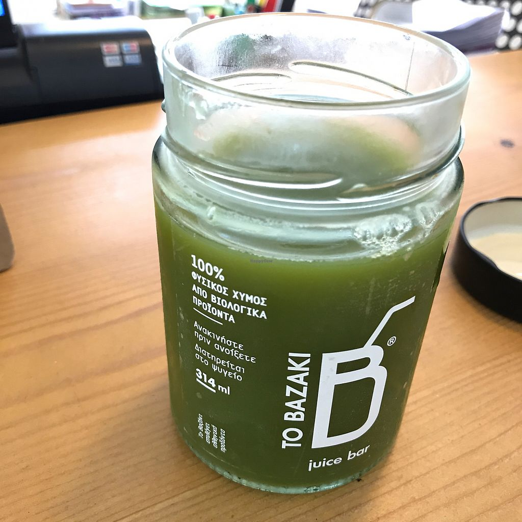 "Photo of To Bazaki Juice Bar  by <a href=""/members/profile/earthville"">earthville</a> <br/>yum <br/> May 12, 2017  - <a href='/contact/abuse/image/82289/258043'>Report</a>"