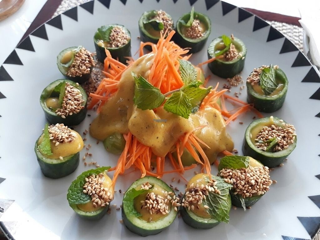 "Photo of Ama Vegan Kitchen  by <a href=""/members/profile/LilacHippy"">LilacHippy</a> <br/>Raw cucumber with dressing <br/> March 3, 2017  - <a href='/contact/abuse/image/82316/232079'>Report</a>"