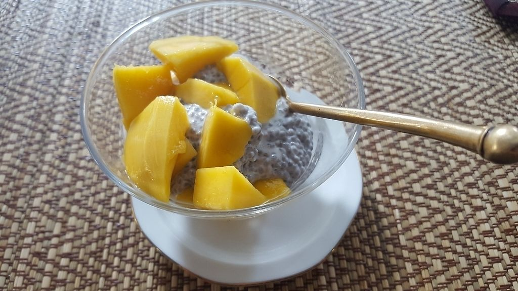 "Photo of Ama Vegan Kitchen  by <a href=""/members/profile/Yanka"">Yanka</a> <br/>chia seed pudding with mango <br/> April 30, 2017  - <a href='/contact/abuse/image/82316/254096'>Report</a>"