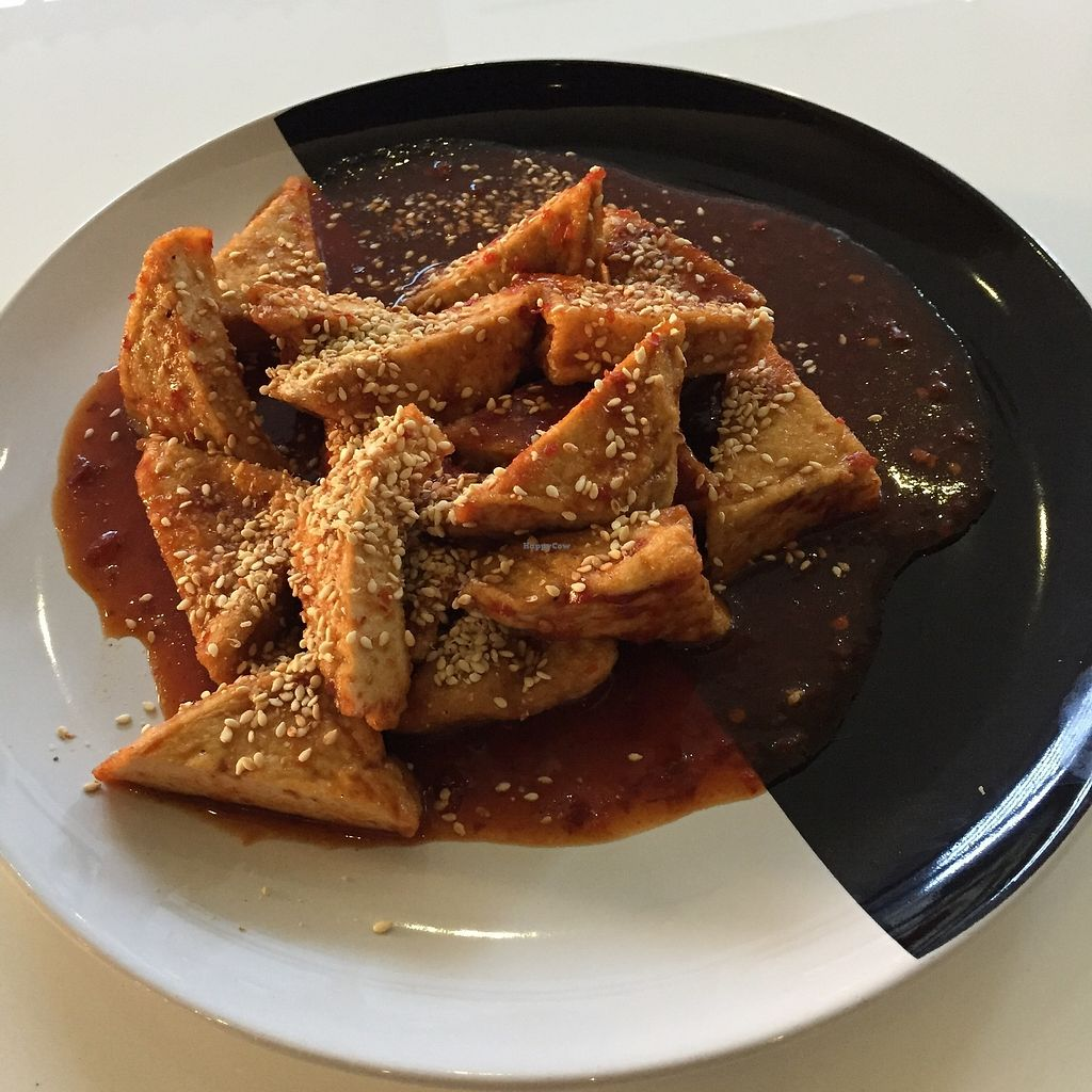 "Photo of Ama Vegan Kitchen  by <a href=""/members/profile/Pons"">Pons</a> <br/>Tofu in red sauce - nice one  <br/> January 31, 2018  - <a href='/contact/abuse/image/82316/353224'>Report</a>"