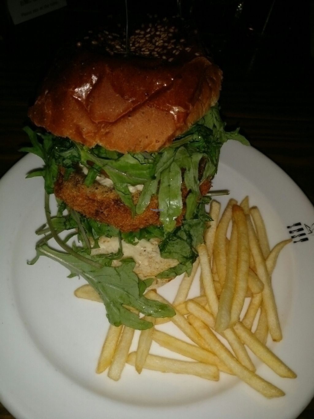 """Photo of Zest Cantina  by <a href=""""/members/profile/Pinkymoemox"""">Pinkymoemox</a> <br/>veggie burger  <br/> December 6, 2016  - <a href='/contact/abuse/image/82319/197795'>Report</a>"""