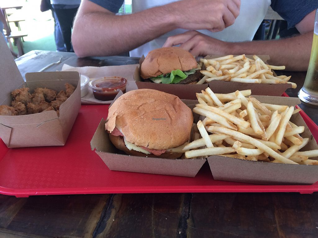 """Photo of Lord of the Fries - Britomart  by <a href=""""/members/profile/gnarlylouiseford"""">gnarlylouiseford</a> <br/>Chick n nuggets, Parma and spicy burger with shoe string fries <br/> January 2, 2018  - <a href='/contact/abuse/image/82326/341902'>Report</a>"""