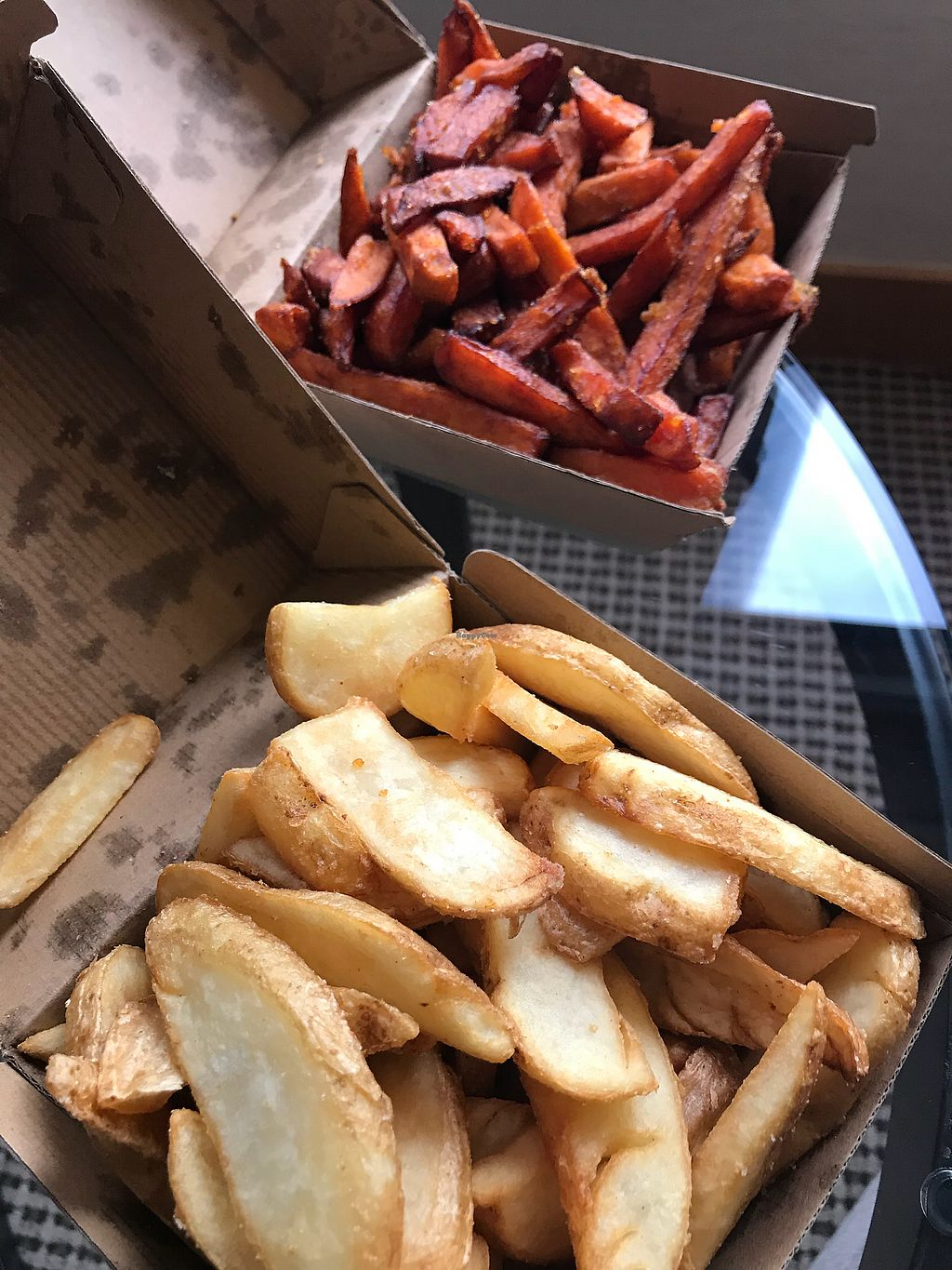 """Photo of Lord of the Fries - Britomart  by <a href=""""/members/profile/LenaHaapala"""">LenaHaapala</a> <br/>Sweet potato and chunky fries  <br/> April 13, 2018  - <a href='/contact/abuse/image/82326/384902'>Report</a>"""