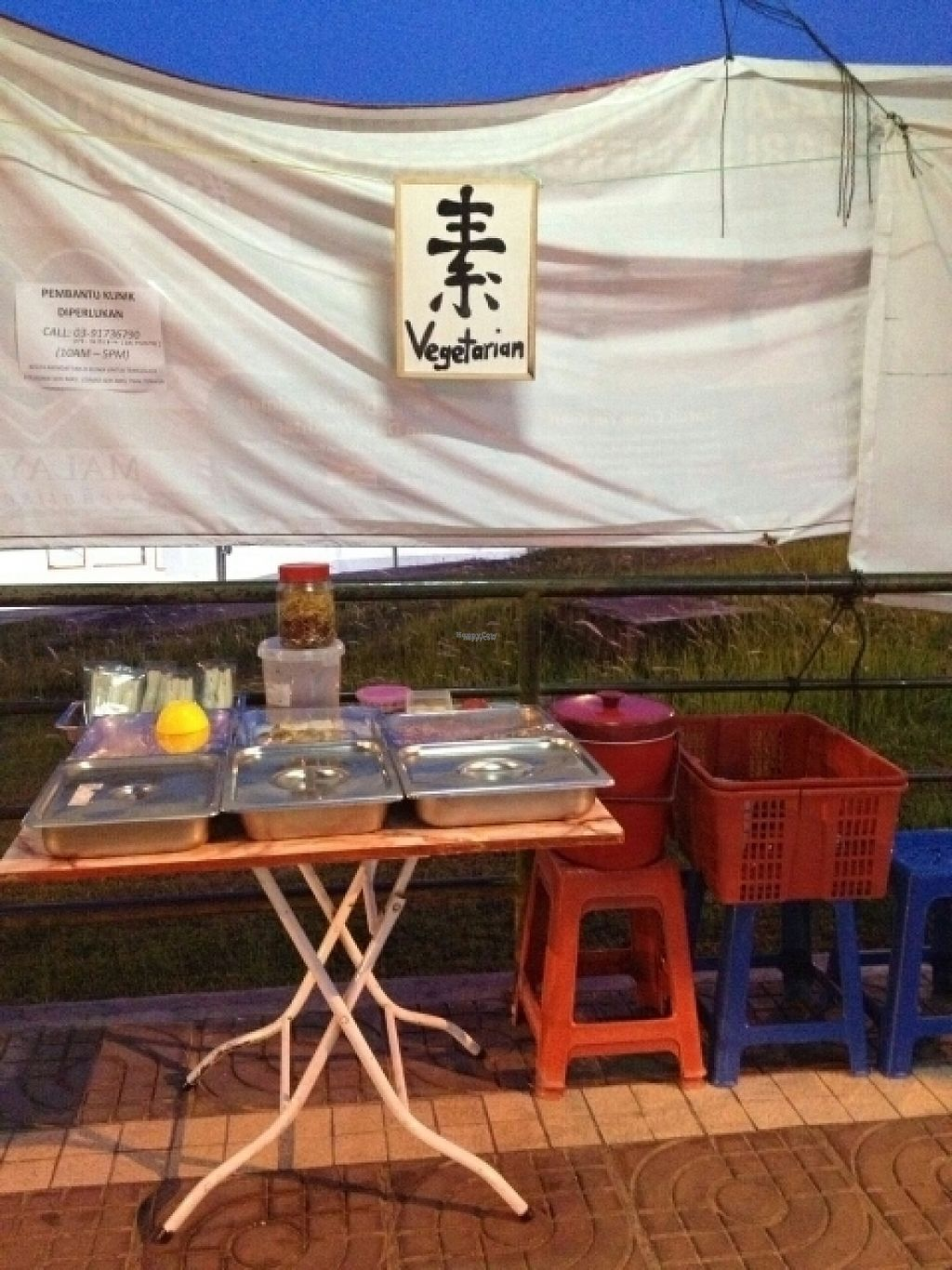 """Photo of Vegetarian Halal - Food Stall  by <a href=""""/members/profile/CheeLeongLee"""">CheeLeongLee</a> <br/>vegetarian stall <br/> November 7, 2016  - <a href='/contact/abuse/image/82331/187105'>Report</a>"""