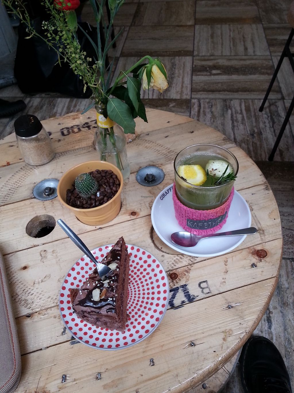 """Photo of KAFETHEA  by <a href=""""/members/profile/ManueEmmaLeTllc"""">ManueEmmaLeTllc</a> <br/>homemade lemon-rosemary hot tea and chocolate cake <br/> August 9, 2017  - <a href='/contact/abuse/image/82368/290855'>Report</a>"""