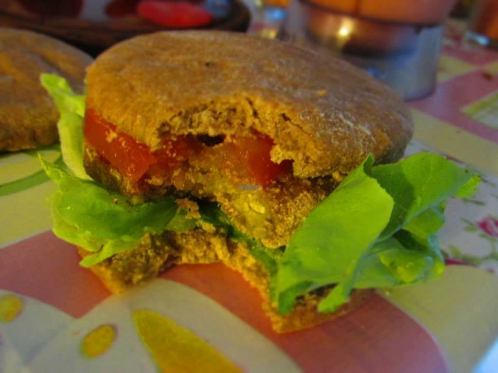 """Photo of Manjares Veganos  by <a href=""""/members/profile/madjennsy"""">madjennsy</a> <br/>Vegan Burger with Eggplant mustard <br/> November 7, 2016  - <a href='/contact/abuse/image/82386/187082'>Report</a>"""