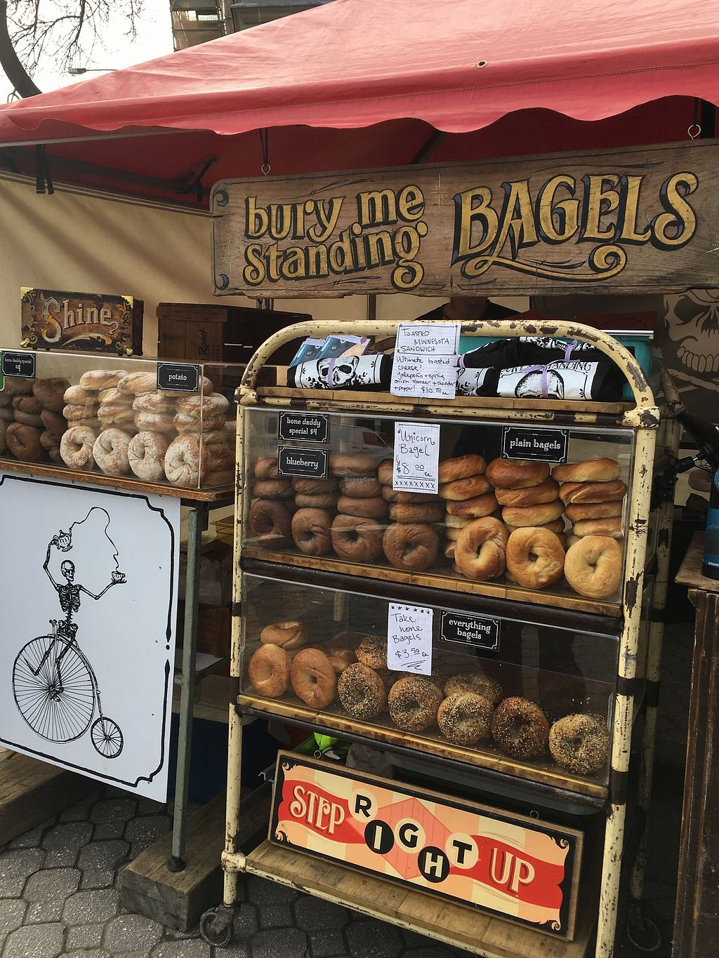 """Photo of Bury Me Standing Coffee  by <a href=""""/members/profile/jojoinbrighton"""">jojoinbrighton</a> <br/>Their stand at the market <br/> August 27, 2017  - <a href='/contact/abuse/image/82388/297710'>Report</a>"""