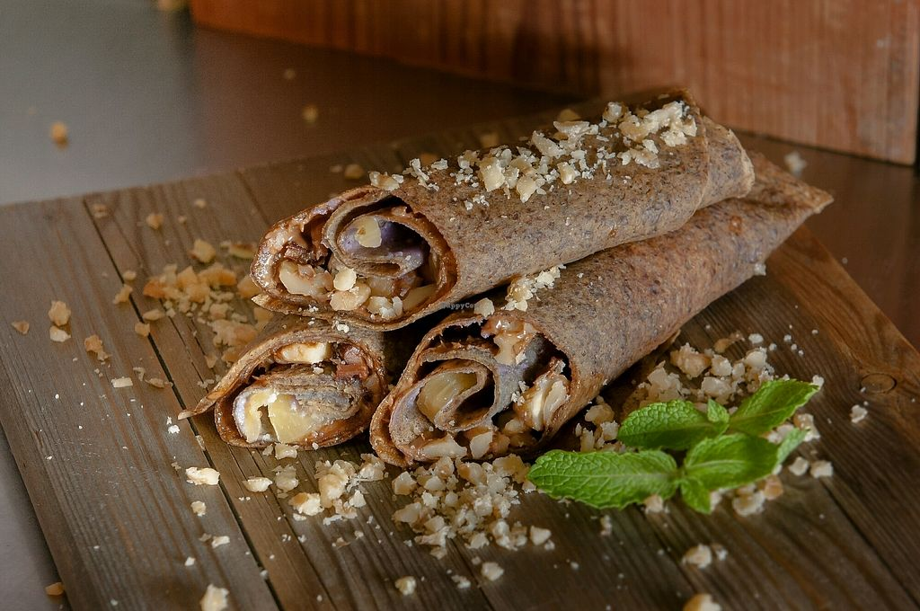 """Photo of EcO Bar  by <a href=""""/members/profile/eduard"""">eduard</a> <br/>Tortilla with pesto nougat wanuts and banana <br/> January 1, 2018  - <a href='/contact/abuse/image/82393/341745'>Report</a>"""