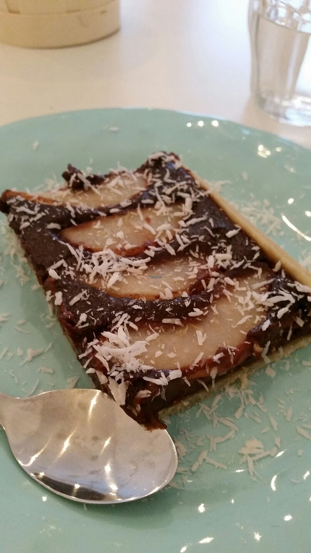 """Photo of Les P'tits Poissons Verts  by <a href=""""/members/profile/ChantalW"""">ChantalW</a> <br/>chocolate and pear tart <br/> March 25, 2017  - <a href='/contact/abuse/image/82420/240533'>Report</a>"""