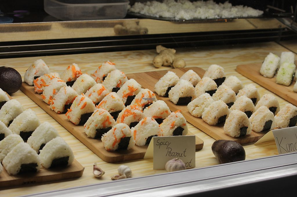 "Photo of Vegan Onigiri Manufaktur  by <a href=""/members/profile/onigirimanufaktur"">onigirimanufaktur</a> <br/>A picture of the opening day <br/> November 15, 2016  - <a href='/contact/abuse/image/82431/190393'>Report</a>"