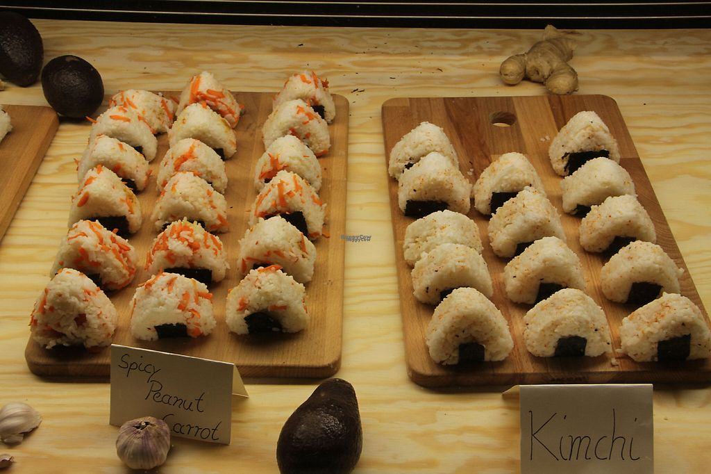 "Photo of Vegan Onigiri Manufaktur  by <a href=""/members/profile/onigirimanufaktur"">onigirimanufaktur</a> <br/>A picture of the opening day <br/> November 15, 2016  - <a href='/contact/abuse/image/82431/190394'>Report</a>"