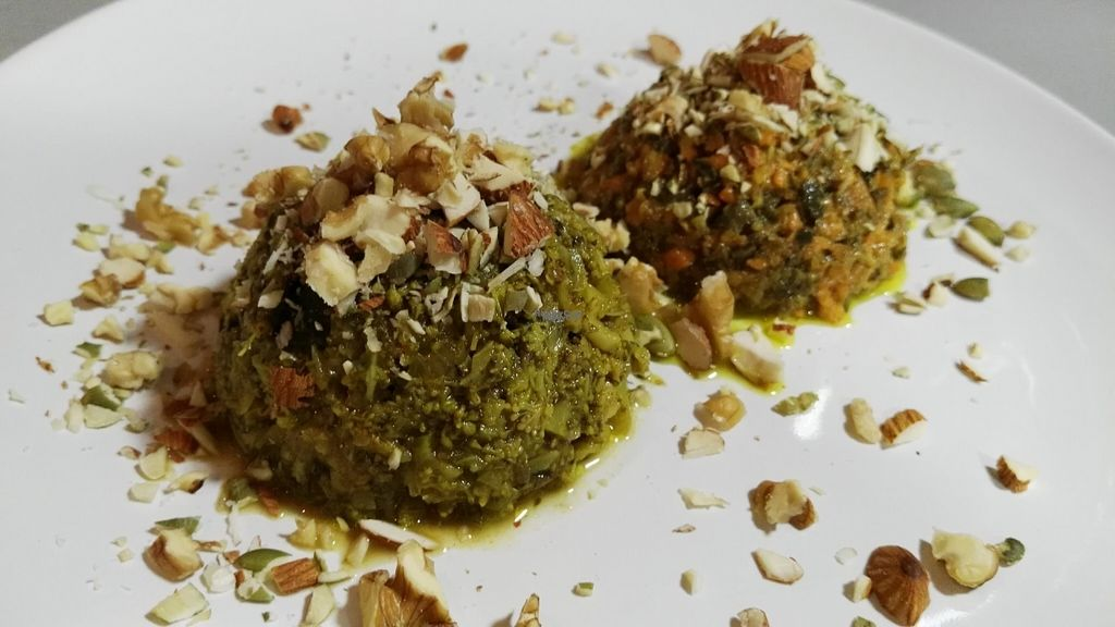 """Photo of La Oficina  by zisbea <br/>Vegan Tartar """"La Oficina"""" with seasonal vegetables dressed with nuts, extra olive oil and our special blend of herbs and natural spices. Accompanied by slices of toast bread.  <br/> November 6, 2016  - <a href='/contact/abuse/image/82432/186861'>Report</a>"""