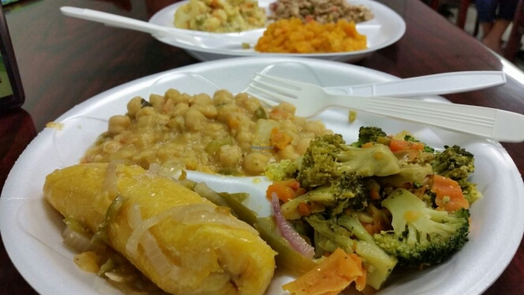 """Photo of Vegan and Juice  by <a href=""""/members/profile/EverydayTastiness"""">EverydayTastiness</a> <br/>bean, broccoli,  and plantains <br/> January 18, 2016  - <a href='/contact/abuse/image/8244/132881'>Report</a>"""