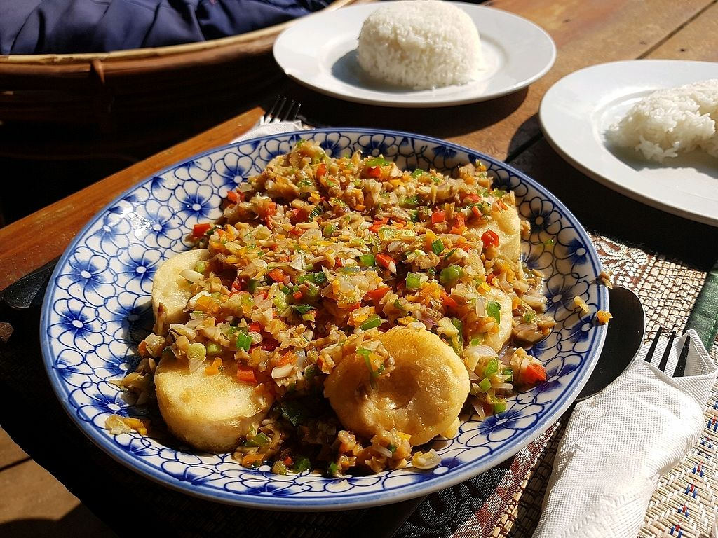 """Photo of Lazy Beach  by <a href=""""/members/profile/vegatleticas"""">vegatleticas</a> <br/>Probably egg tofu with veggies <br/> February 24, 2018  - <a href='/contact/abuse/image/82463/362994'>Report</a>"""