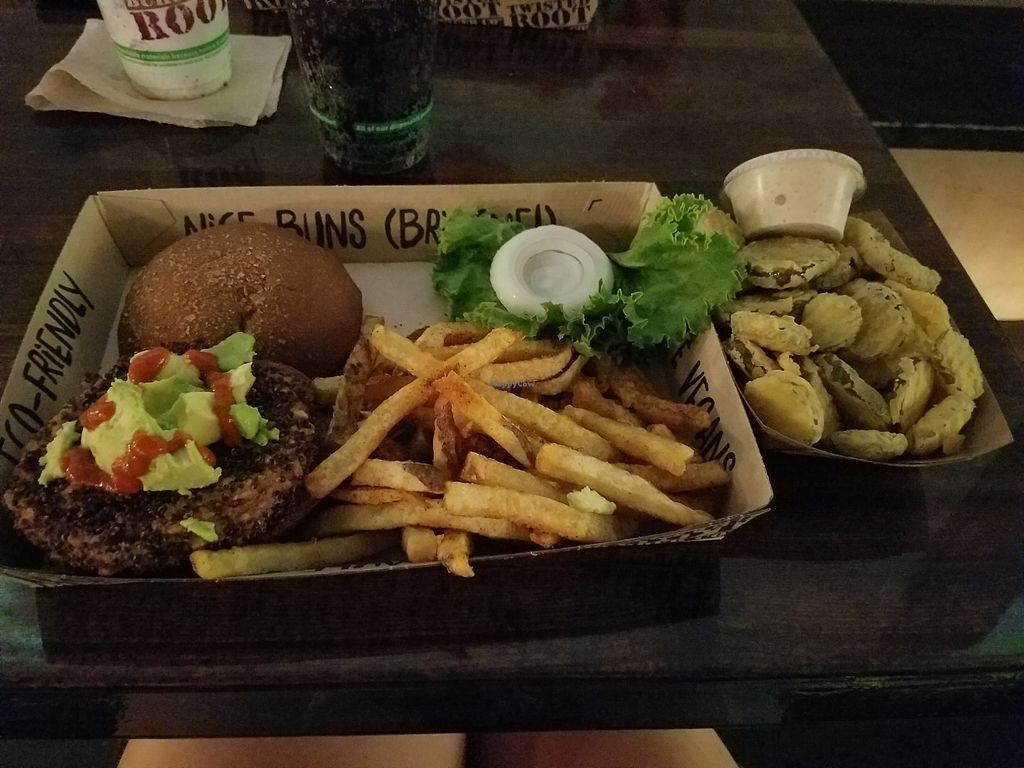 "Photo of Twisted Root Burger  by <a href=""/members/profile/Courtneybouch10"">Courtneybouch10</a> <br/>Vegabond with fries & fried pickles ? <br/> August 12, 2017  - <a href='/contact/abuse/image/82477/292055'>Report</a>"