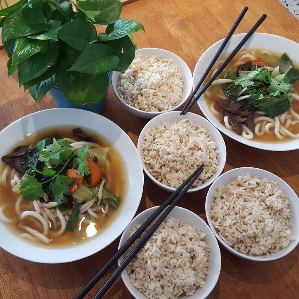 "Photo of Yi Ke Shu - Tanjung Bungah  by <a href=""/members/profile/ThatVeganCouple"">ThatVeganCouple</a> <br/>Not Just Udon Noodle Soups + brown rice <br/> December 4, 2016  - <a href='/contact/abuse/image/82482/197155'>Report</a>"
