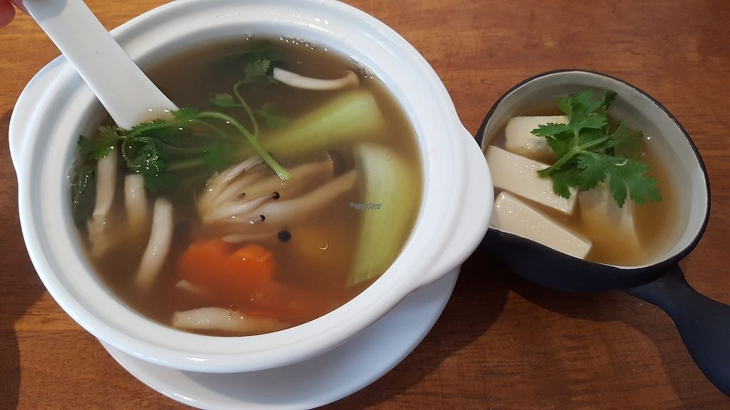 "Photo of Yi Ke Shu - Tanjung Bungah  by <a href=""/members/profile/ThatVeganCouple"">ThatVeganCouple</a> <br/>Veggie soup made from scratch, with silken tofu. A healthy and clean option :) <br/> December 4, 2016  - <a href='/contact/abuse/image/82482/197159'>Report</a>"