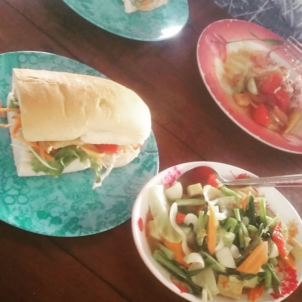 """Photo of Number 1 Vegetarian  by <a href=""""/members/profile/Without_Cruelty_Blog"""">Without_Cruelty_Blog</a> <br/>Tofu burger and a mixed veg dish <br/> January 14, 2017  - <a href='/contact/abuse/image/82483/211874'>Report</a>"""