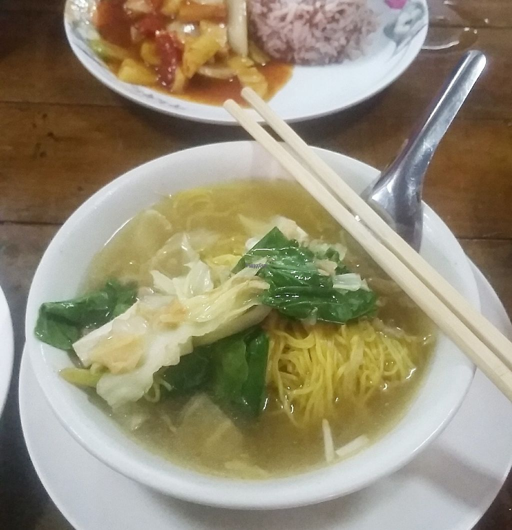 """Photo of Number 1 Vegetarian  by <a href=""""/members/profile/Without_Cruelty_Blog"""">Without_Cruelty_Blog</a> <br/>Noodle soup <br/> January 14, 2017  - <a href='/contact/abuse/image/82483/211876'>Report</a>"""