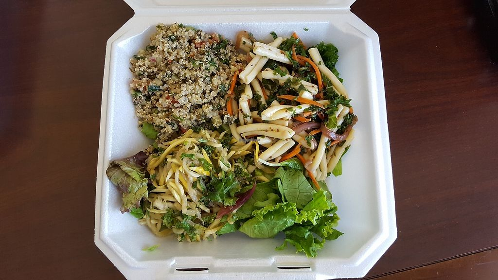 """Photo of Nourish Cafe Office  by <a href=""""/members/profile/DonnaWood"""">DonnaWood</a> <br/>Veggie Pasta Salad, Quinoa Tabbouleh, Squash Kale Slaw <br/> August 1, 2017  - <a href='/contact/abuse/image/82523/287784'>Report</a>"""