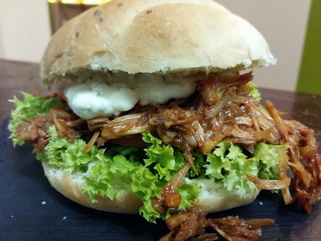 """Photo of Marsim Bistrobarante  by <a href=""""/members/profile/SimoneW"""">SimoneW</a> <br/>100 % vegan jackfruit burger with ranch dressing <br/> November 9, 2016  - <a href='/contact/abuse/image/82543/187975'>Report</a>"""