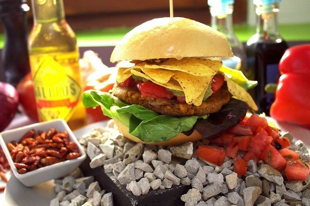 """Photo of Marsim Bistrobarante  by <a href=""""/members/profile/SimoneW"""">SimoneW</a> <br/>vegan Tex Mex Burger hot hot hot <br/> November 9, 2016  - <a href='/contact/abuse/image/82543/187976'>Report</a>"""