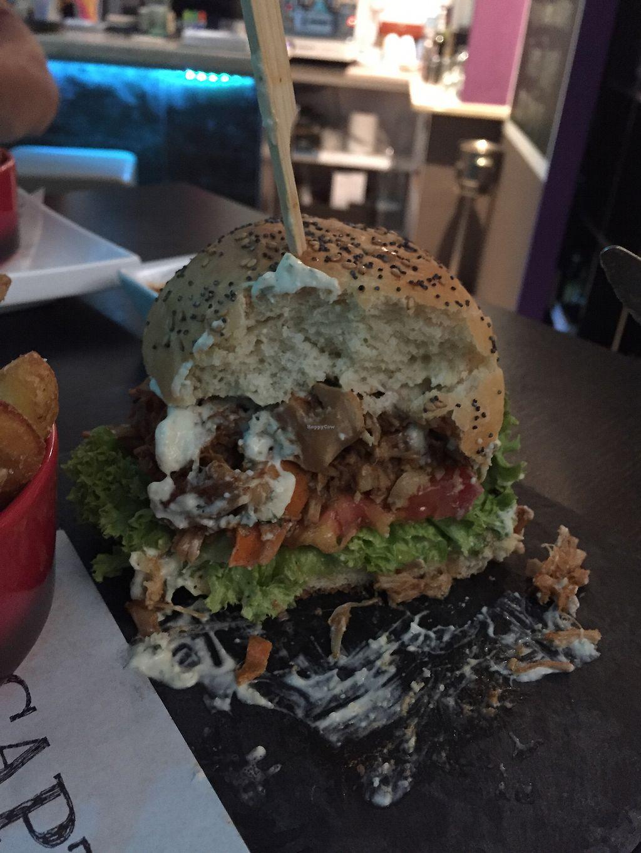 "Photo of Marsim Bistrobarante  by <a href=""/members/profile/davetri"">davetri</a> <br/>Jackfruit burger again mmm <br/> September 5, 2017  - <a href='/contact/abuse/image/82543/301134'>Report</a>"