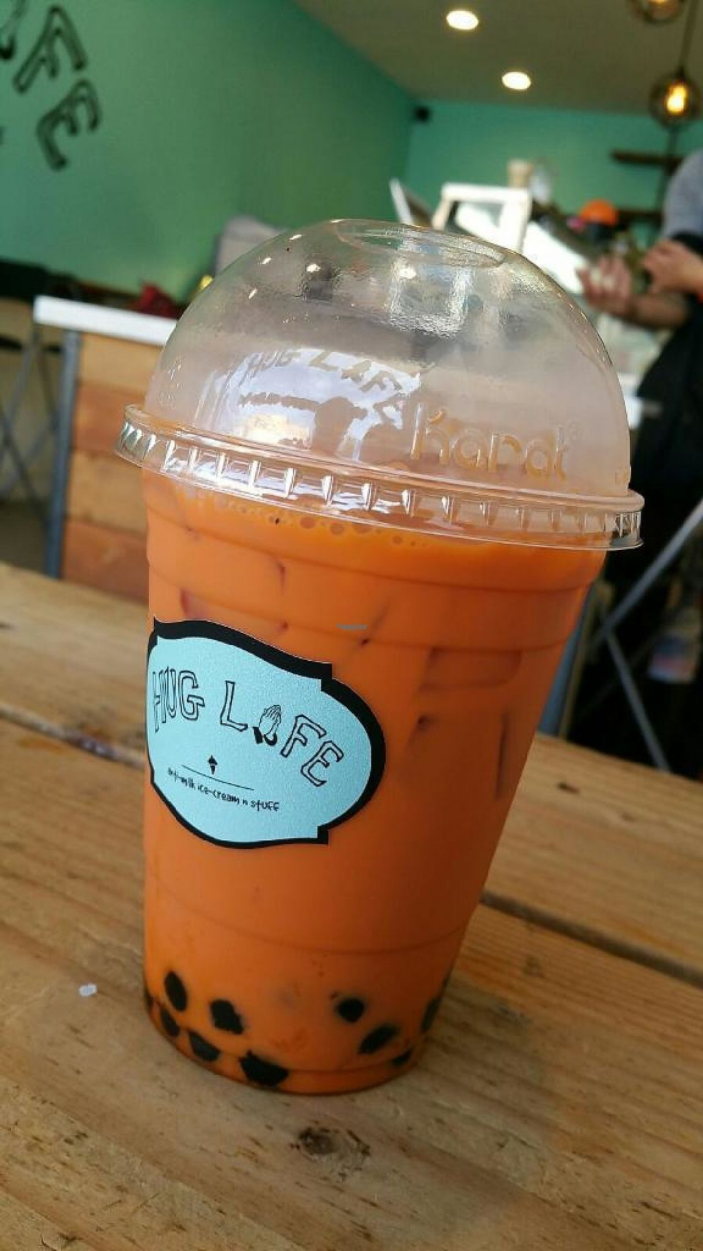 """Photo of Hug Life  by <a href=""""/members/profile/Labylala"""">Labylala</a> <br/>First customer to get the Boba in Thai Tea drink! Yum! <br/> November 8, 2016  - <a href='/contact/abuse/image/82555/187510'>Report</a>"""