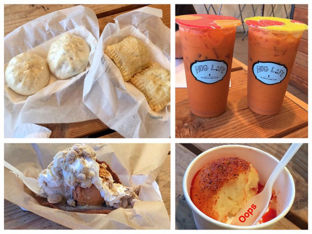 """Photo of Hug Life  by <a href=""""/members/profile/yourmoderndayhippie"""">yourmoderndayhippie</a> <br/>steamed buns, meat pies, Thai iced teas, ice cream taco, and a scoop of mango chamoy  <br/> January 28, 2017  - <a href='/contact/abuse/image/82555/218204'>Report</a>"""