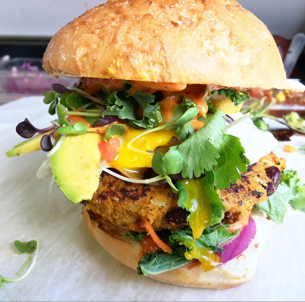 "Photo of Seahorse Republic Food Truck  by <a href=""/members/profile/JossieMunozManley"">JossieMunozManley</a> <br/>the ultimate veggie burger with local avocados and local eggs!  <br/> November 11, 2016  - <a href='/contact/abuse/image/82578/188369'>Report</a>"