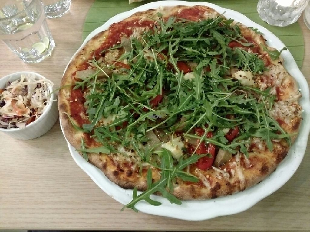 "Photo of Vegan Express  by <a href=""/members/profile/barbicanben"">barbicanben</a> <br/>Seitan salami and cashew cheese pizza <br/> January 31, 2017  - <a href='/contact/abuse/image/82619/220368'>Report</a>"