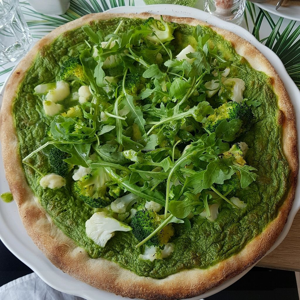 "Photo of Vegan Express  by <a href=""/members/profile/Sassyvegan"">Sassyvegan</a> <br/>Green Express pizza <br/> October 8, 2017  - <a href='/contact/abuse/image/82619/313085'>Report</a>"
