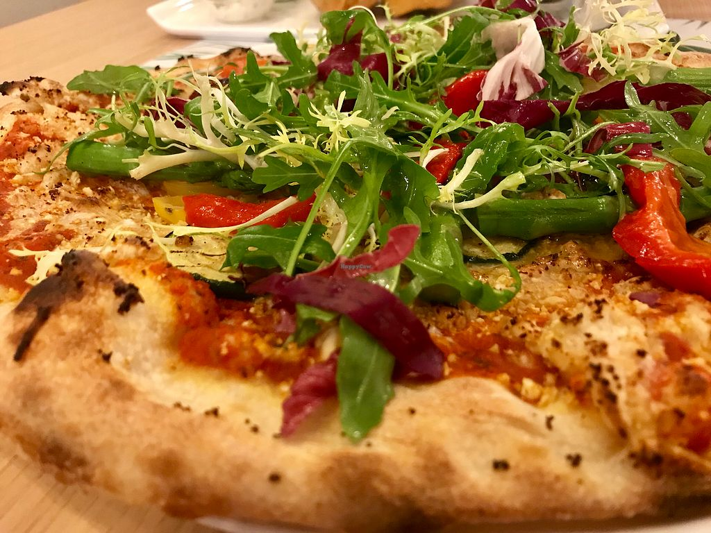 "Photo of Vegan Express  by <a href=""/members/profile/MartaCapova"">MartaCapova</a> <br/>Garden Pizza - really good  <br/> January 21, 2018  - <a href='/contact/abuse/image/82619/349325'>Report</a>"