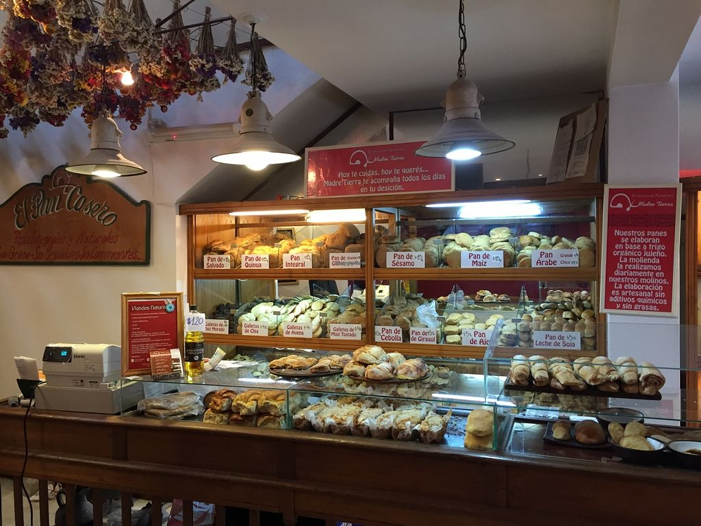 """Photo of Madre Tierra  by <a href=""""/members/profile/Wuji_Luiji"""">Wuji_Luiji</a> <br/>Counter with breads behind it <br/> May 26, 2016  - <a href='/contact/abuse/image/8261/150915'>Report</a>"""